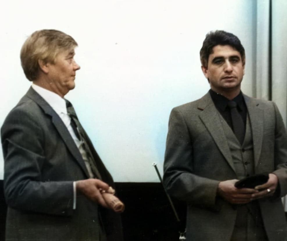 С помощником Валентином Саблиным
